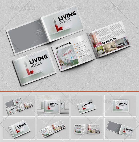 Brosur Perusahaan Konstruksi Brochure \ Pamphlet Designs - landscape brochure