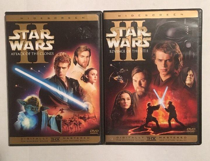 Star Wars 2 3 Dvd 2 Disc Sets Revenge Of The Sith Attack Of The Clones Ws Ebay Star Wars Ii Star Wars Episode 2 Star Wars Episode Ii