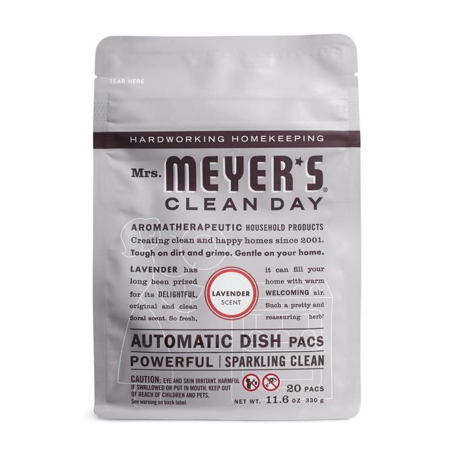 Mrs Meyers Clean Day 6 Pack 20 Lavender Dishwasher Detergent Lowes Com In 2020 Cleaning Day Clean Coffee Stain Dishwasher Detergent