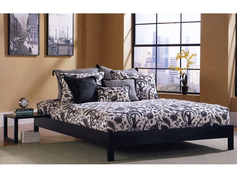 Dress Up This Low Profile Platform Bed In Trendy Bedding