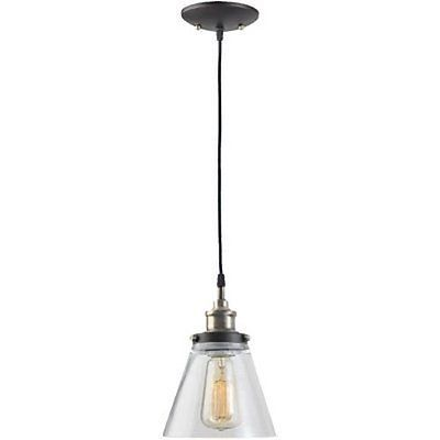 Globe Electric 1 Light Vintage Edison Hanging Pendant Antique Br
