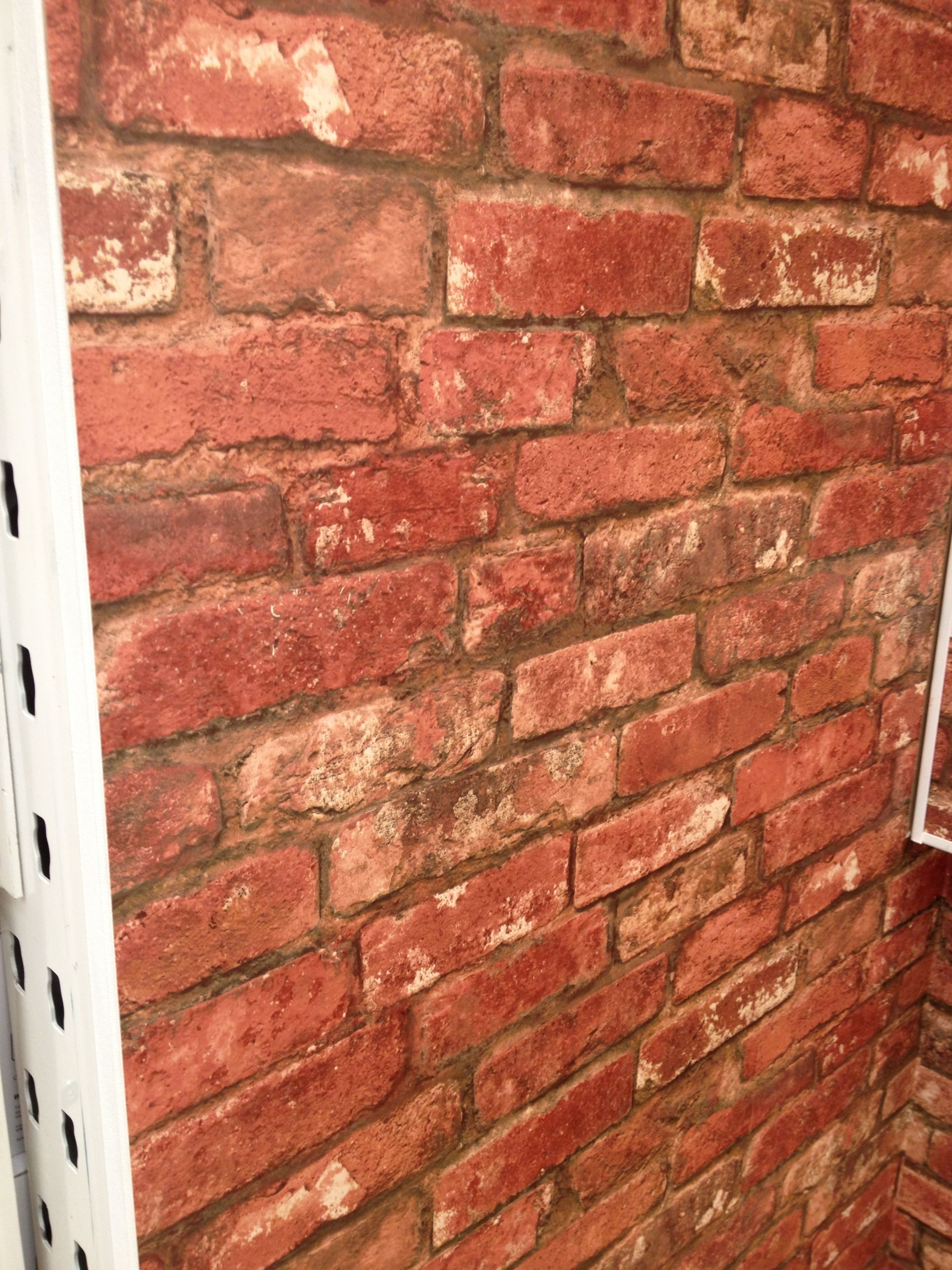 B Amp Q Brick Wallpaper Master Bedroom Accent Wall Brick