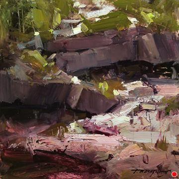 The Symbiosis by Tibor Nagy Oil ~ 8 x 8