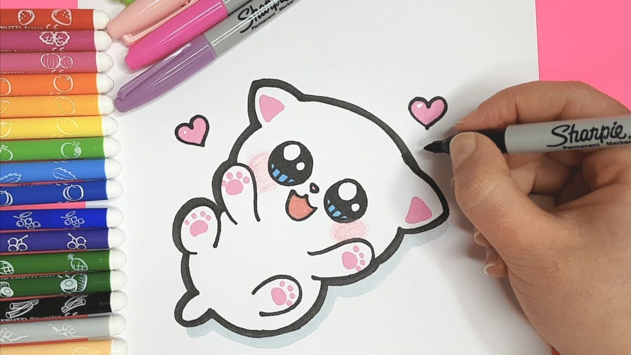 How To Draw A Cute Baby Kitten For Kids Let S Draw Kids Youtube Kitten Drawing Drawing For Kids Kittens Cutest