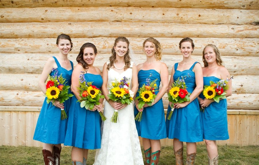 Here You Can Get Country Wedding Bridesmaid Dresses With Cowboy Boots Bridal Wearing Collection In Trendy Fashion Styles Remarkable Picture Ideas