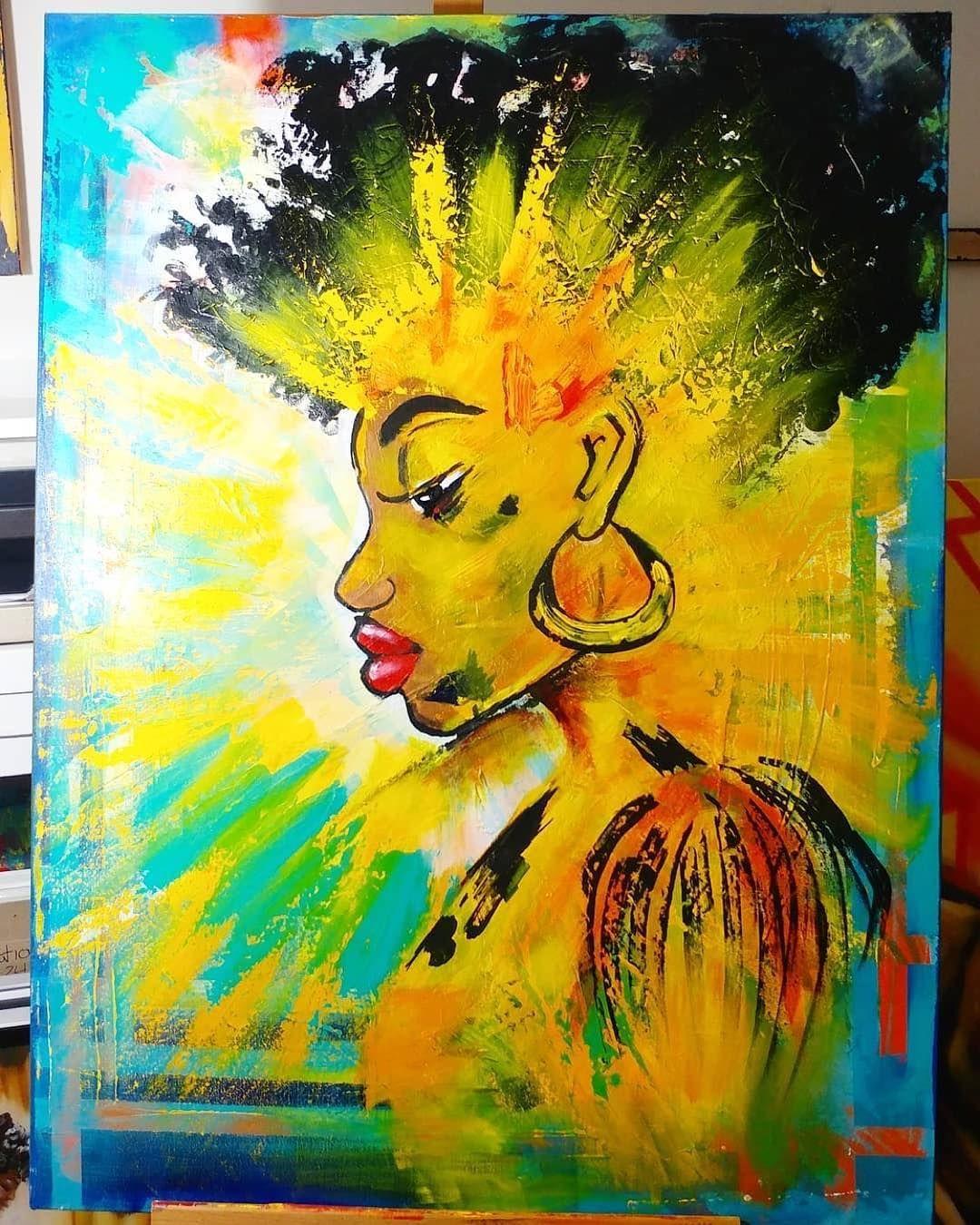 """393 Likes, 7 Comments - BLACK ART 365 (@blackart365) on Instagram: """"FEEL THE ENERGY art of Kofi Frempong @kofis_art —— #kofis_art #blackart365"""""""