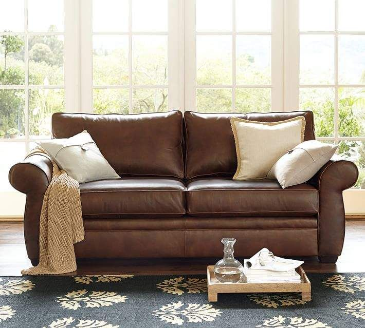 pottery barn pearce leather sofa products pinterest leather rh pinterest com