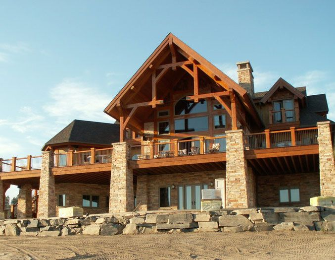 Floor Plan Design - Inglewood Timber Frame Home Plan | Log Cabin ...