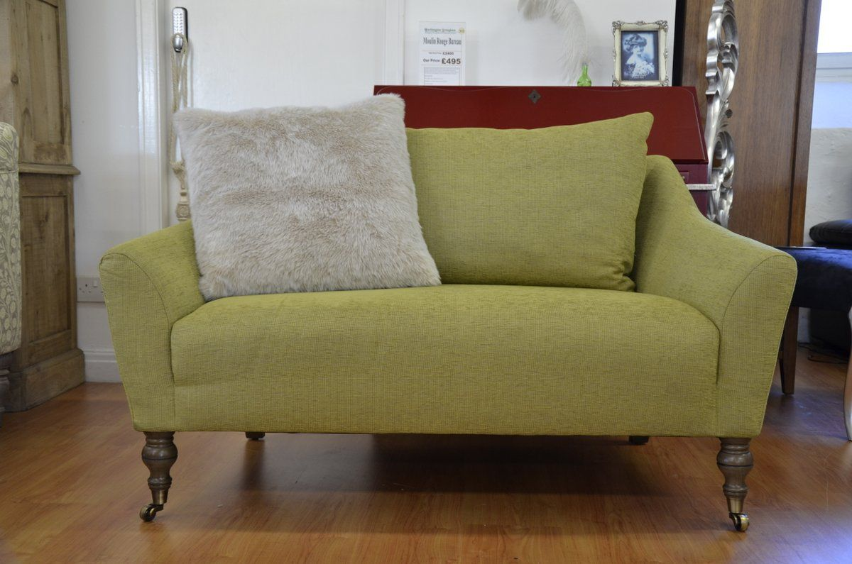 Fabric Sofas & Suites : Newcomen Loveseat in Green Vintage Fabric