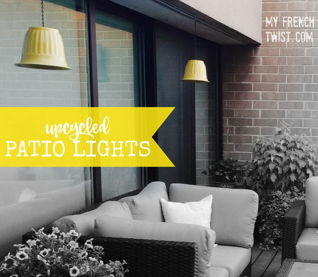 Upcycled flower pots into hanging patio lights! @myfrenchtwist.com ...