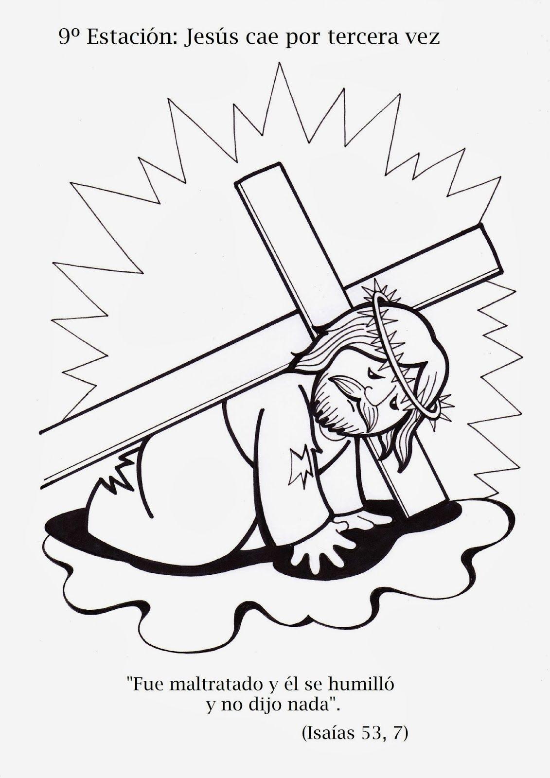 Materiales De Religion Catolica Lasmelli Via Crucis Para Ninos Artesania Biblica Via Crucis