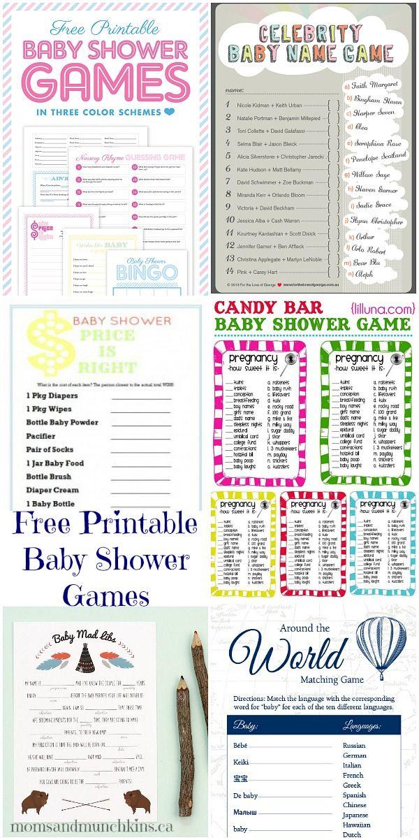 Free Printable Baby Shower Games   Moms U0026 Munchkins