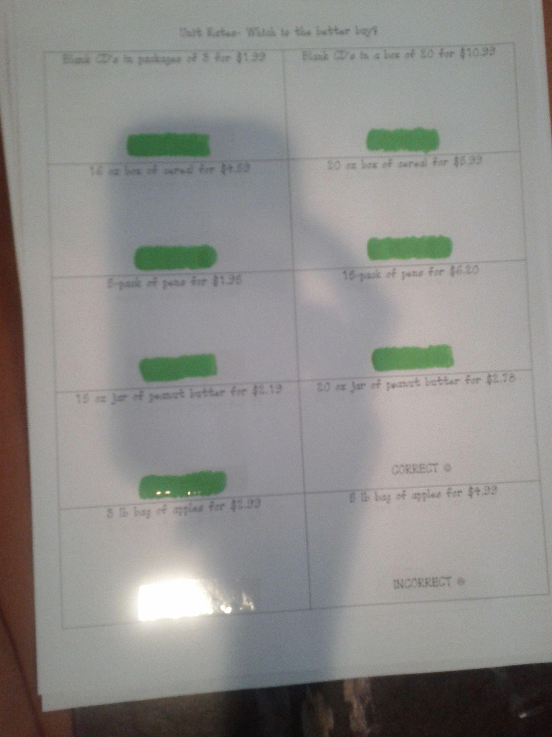 Made4math Scratch Off Unit Rates