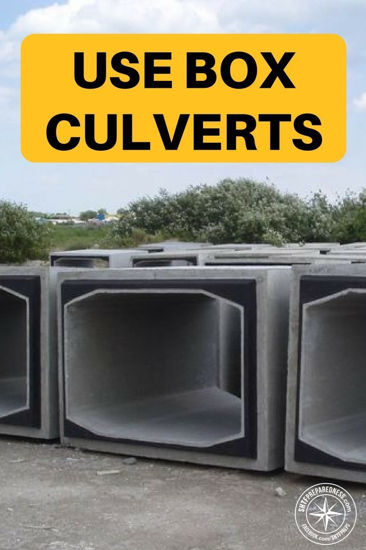 Forget Shipping Containers Use Box Culverts | Pinterest | Concrete