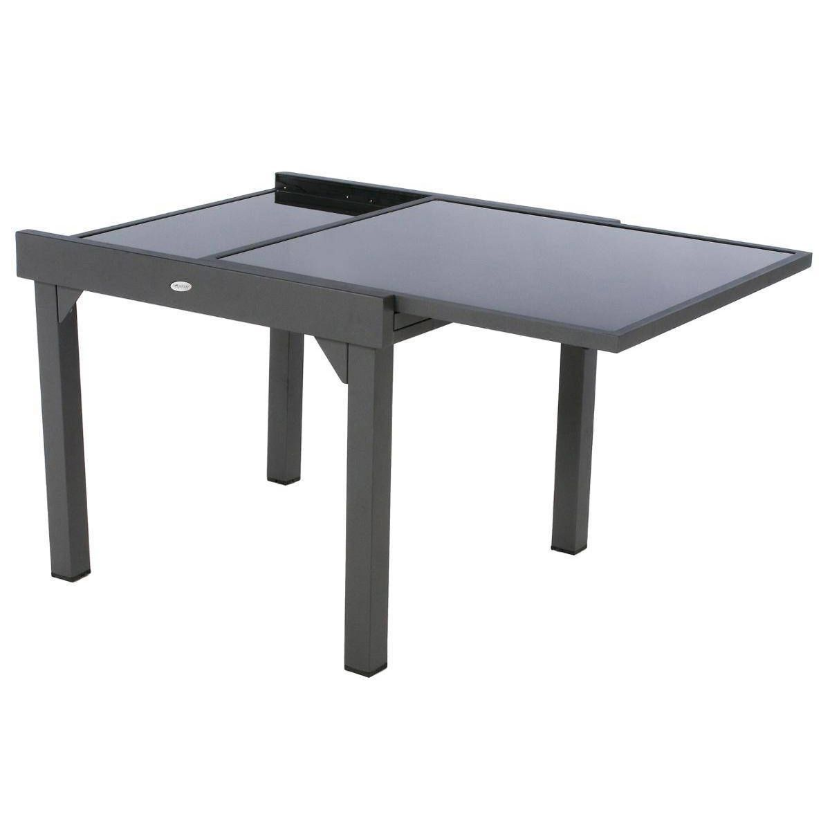 Table Extensible En Verre Piazza 4 8 Places Table Extensible Extensible Et Verre