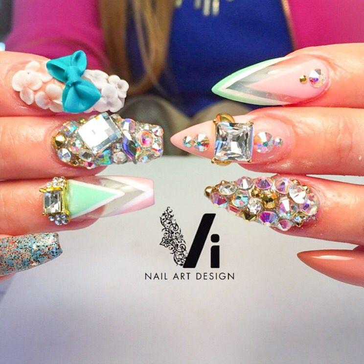 Igvinailartdesign Bowglamsuise These Are Some Busy Nails