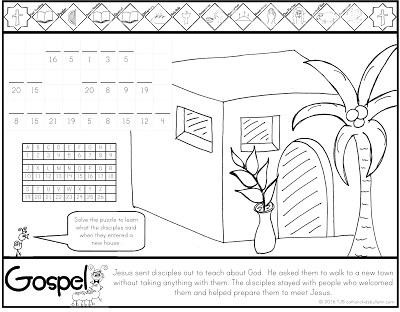 16++ Jesus sends out the disciples coloring page download HD
