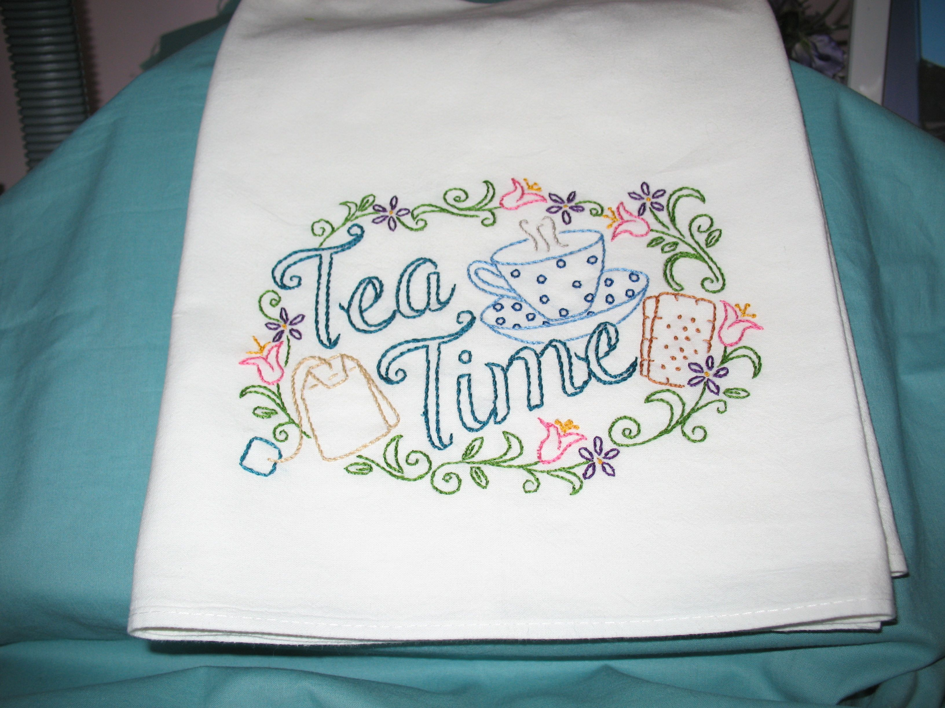 Aunt Martha\'s Tea Time #413 - New pattern - hand embroidered flour ...