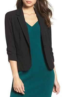 9476c2da065 ELIZA J Designer Ruched Sleeve Blazer Best Blazer