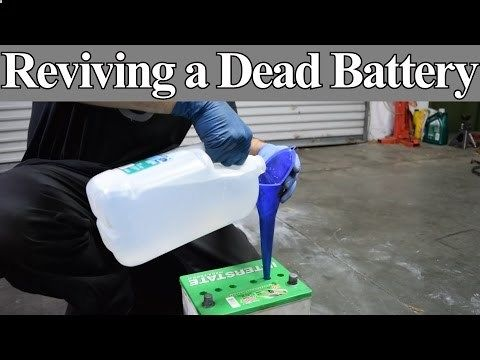 Lead acid battery restoration desulfation recondition in 5 minutes for $ 1.oo epsom salt - YouTube
