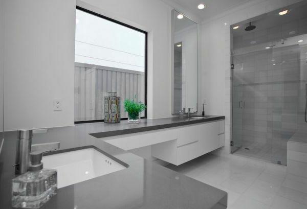 Badezimmer Fenster ~ Badezimmer farbgestaltung wände graue farbnuancen fenster