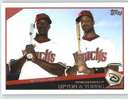 2009 Topps Baseball Card 628 Justin Upton Chris Young Classic Combo Arizona Diamondbacks Mlb Trading Card Baseball Cards Baseball Sports Collectibles