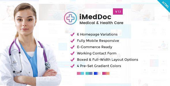 Imeddoc Medical Center Health And Wellness Html5 Template