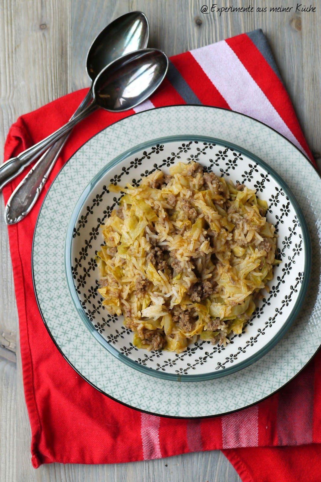 Reis-Spitzkohlpfanne mit Hackfleisch oder Kohlroulade mal anders ...