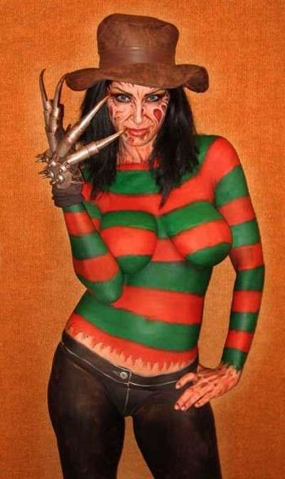 Humanbodyartblogspot 2010 10 Best Halloween Monster Alien Body Art Yes I Would Love To Have Her Appear In My Dreams Kip V