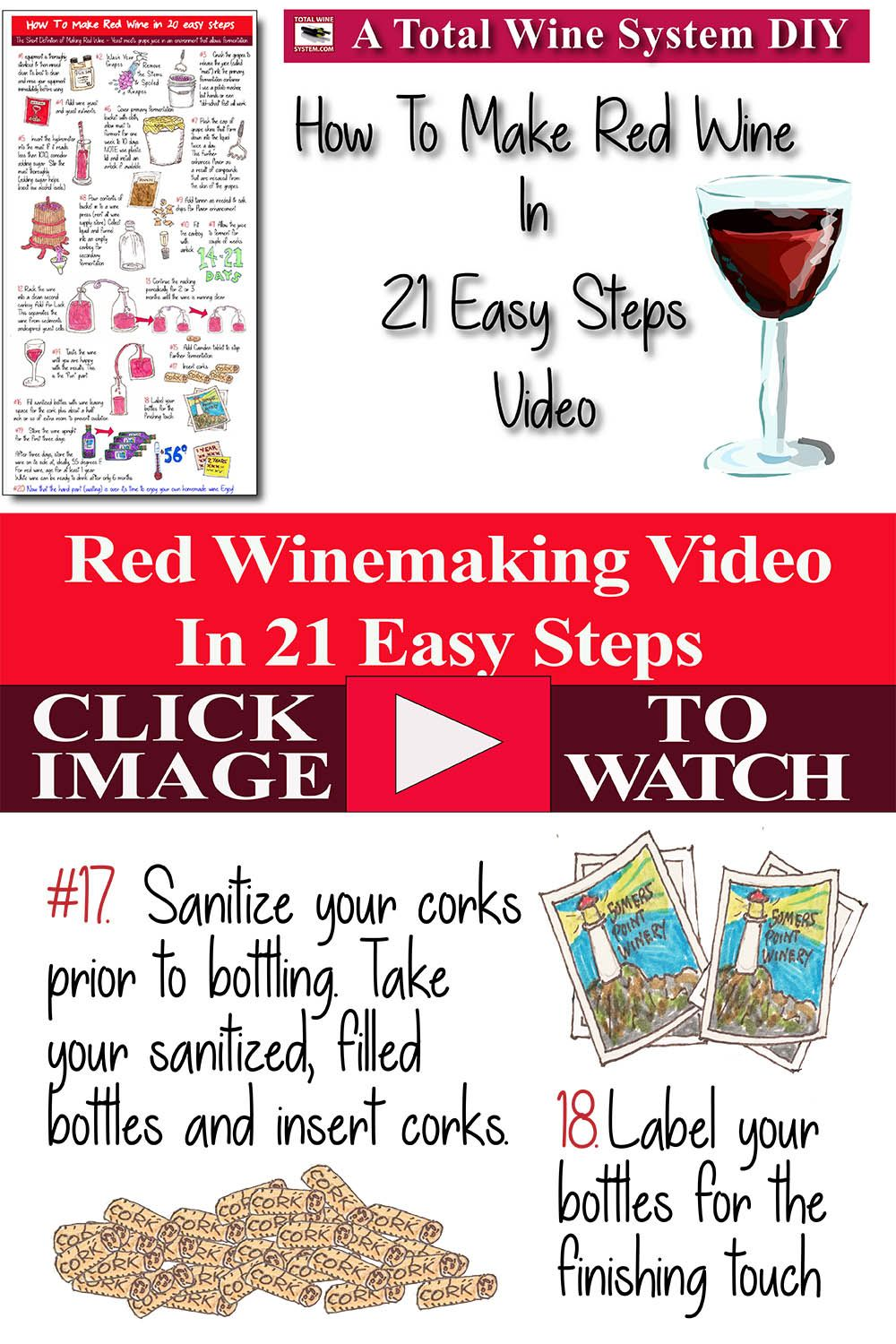 Making Red Wine In 21 Easy Steps The Total Wine System Winemaking Wine Making Process Easy Step