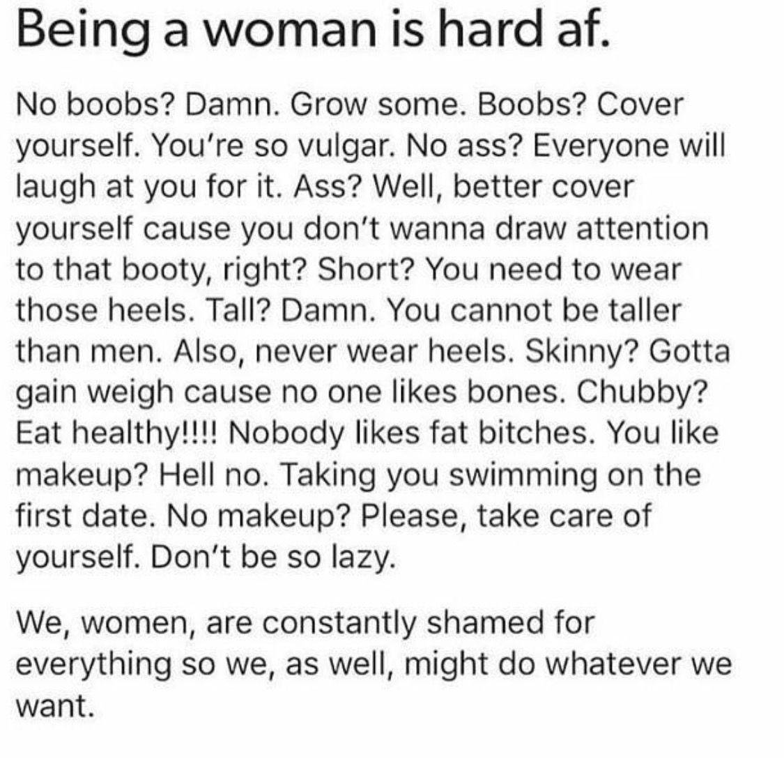 Do what you want, you'll be judged regardless. Let them judge, and remember someone else is judging them just as harshly.