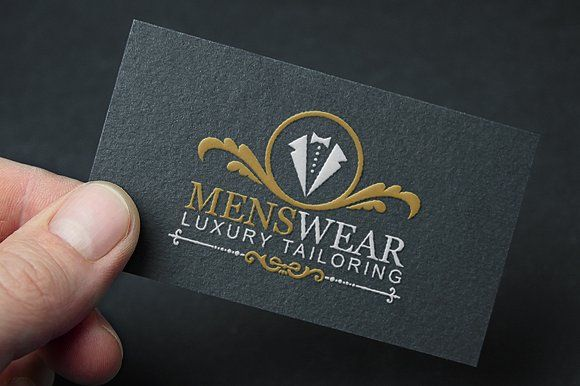 Menswear Business Card Logo Design Identity Card Design Tailor Logo