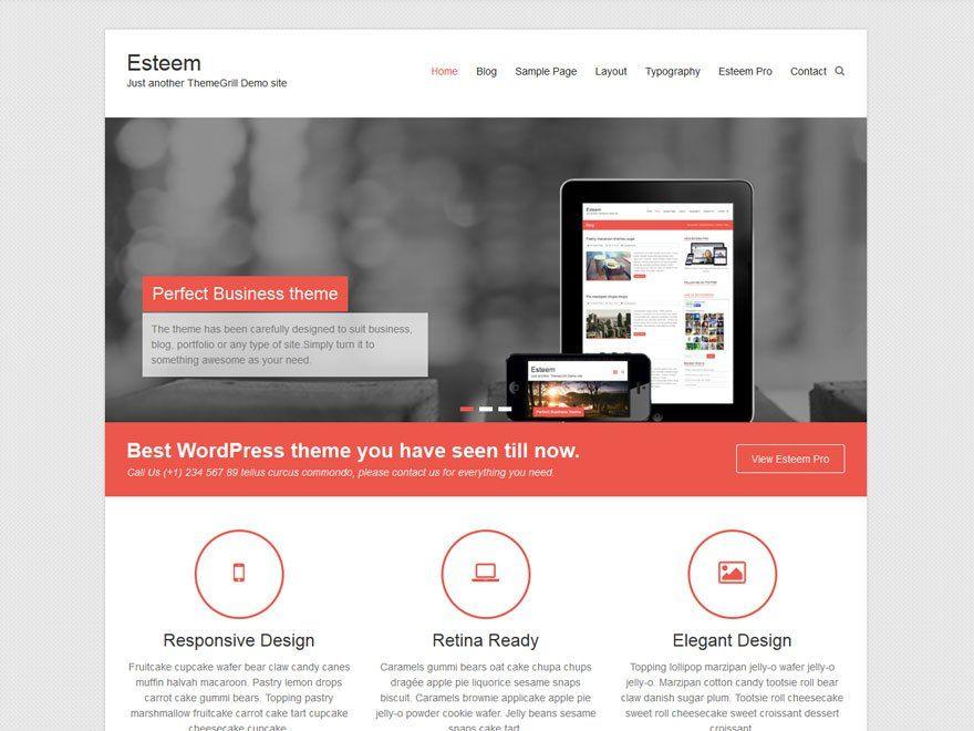Esteem — ThemeGrill | Repository free WordPress themes | Pinterest ...
