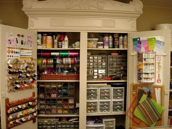 Armoire Atelier Rangement Couture Upper B Side Bricolage Armoire Rangement Materiel D Art Coin Atelier
