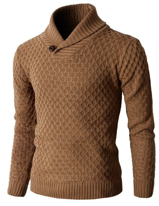 e48b64350f856 Amazon.com  H2H Men s Knit Pullover Long Sleeve Hexagon Patterned Sweater   Clothing