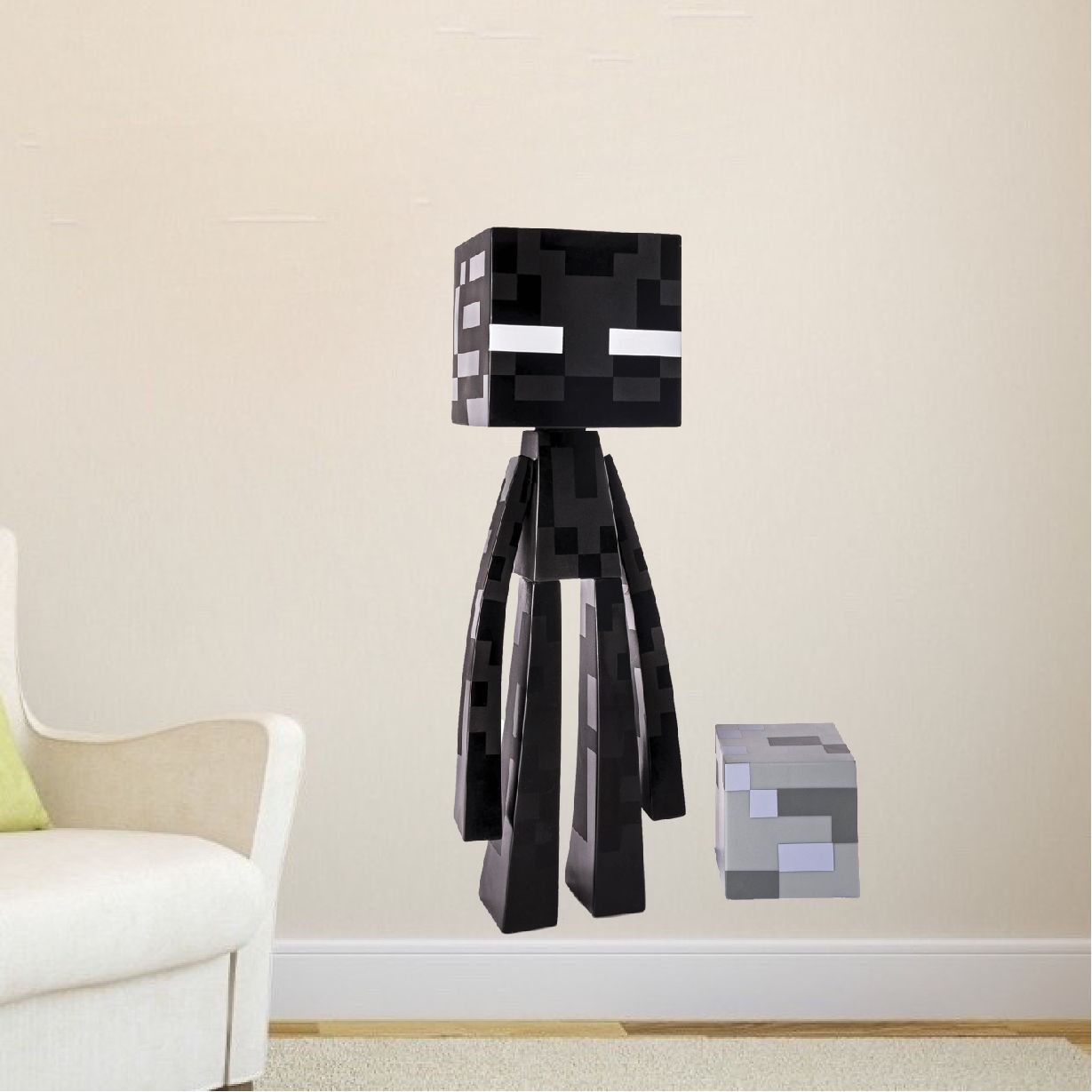 Minecraft Enderman Bedroom Wall Decal - Minecraft Wall Design Stickers - Video Game Wall Decal Murals | Primedecals & Minecraft Enderman Bedroom Wall Decal - Minecraft Wall Design ...