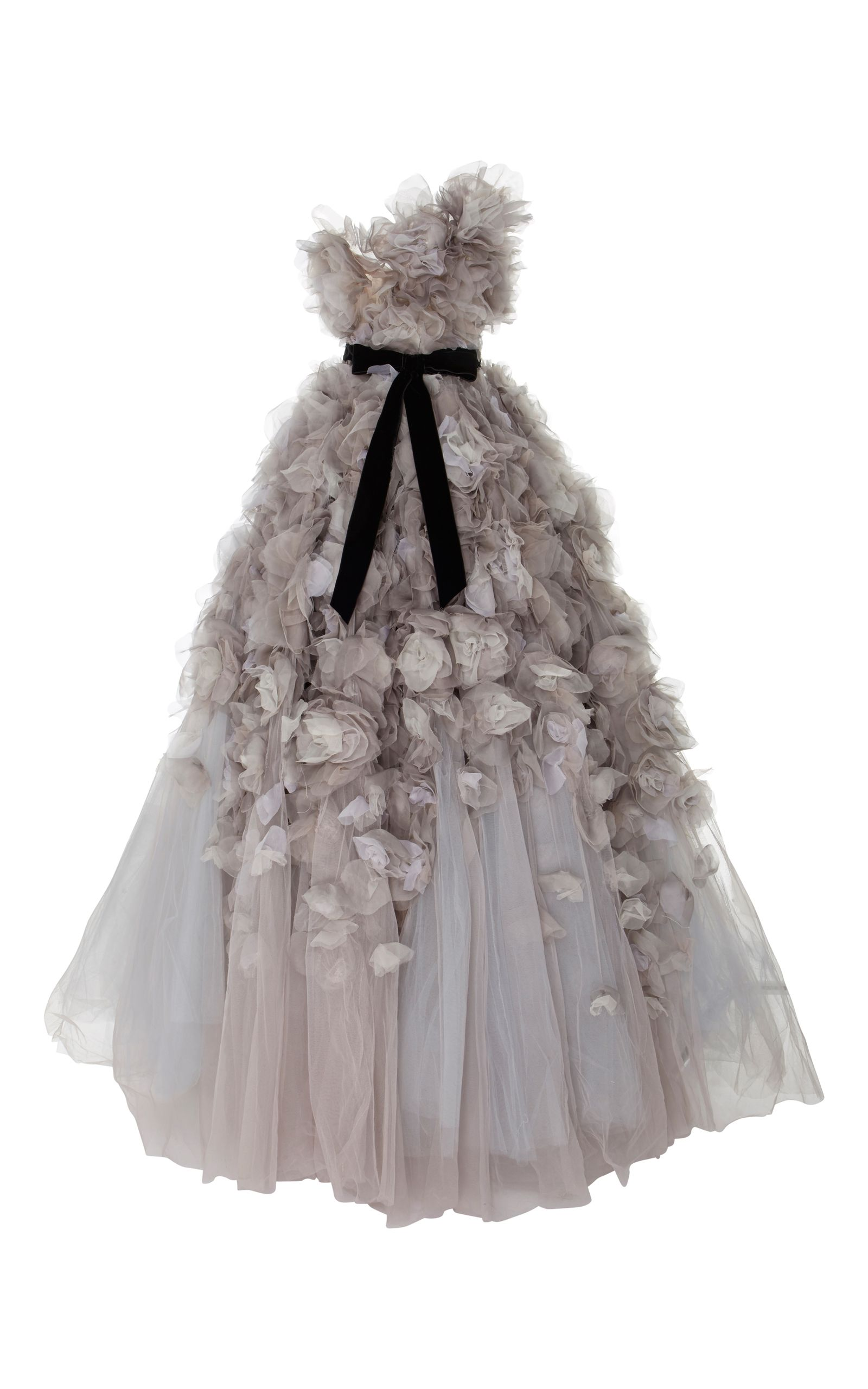 Marchesa One Shoulder Layered Tulle BallGown Ball gowns