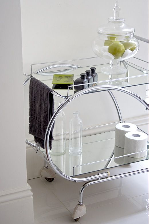Stylish Bathroom Storage Retro Art Deco Drinks Trolley