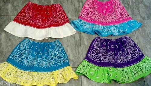 how to make a skirt out of bandanas