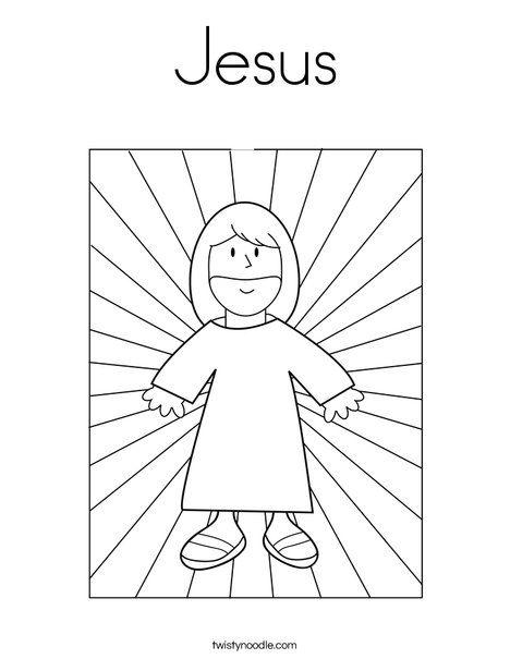 Jesus Coloring Page