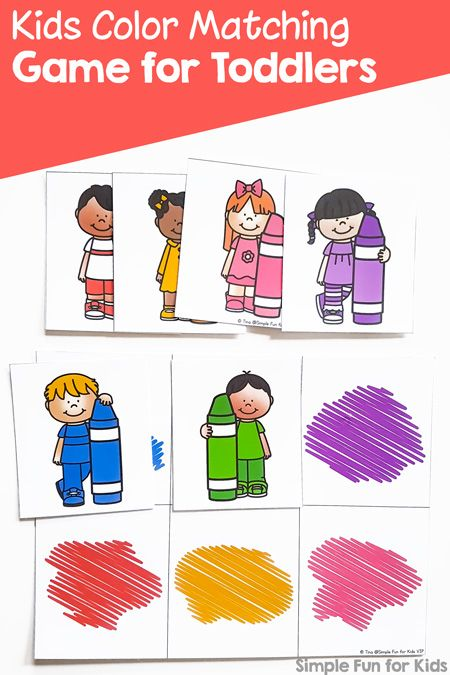 Kids Color Matching Game For Toddlers Printable Simple Fun For Kids Matching Games For Toddlers Fun Activities For Preschoolers Kids Learning Activities