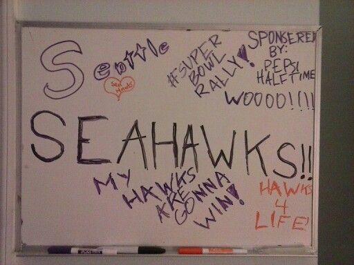 Rooting for my Sea Hawks! #SuperBowlRally#Seahawks4Life