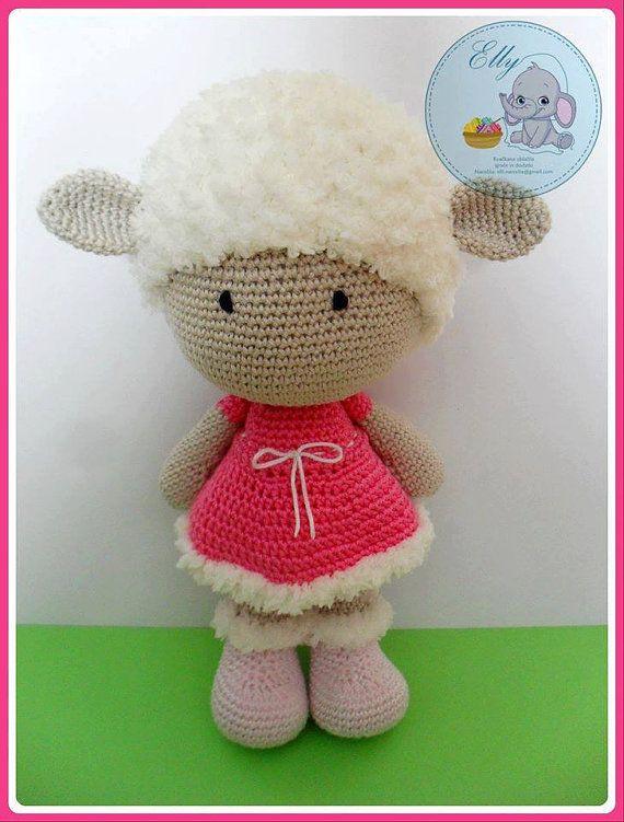 crochet juguetes juguetes muñeca de ganchillo por EllyCrochet ...