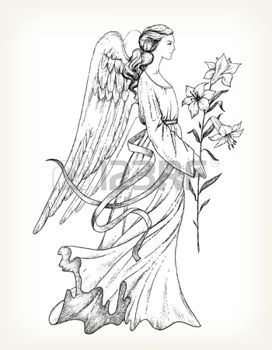 Dessin anges main ange dessin avec lily anges pinterest dessin ange anges et dessiner - Dessin manga ange ...