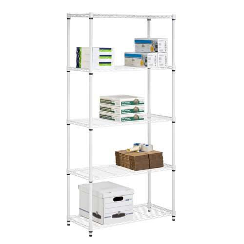 When you're storing heavy items, you need a shelving system that can hold the weight. The 5 tier white storage shelves come in two styles: one that holds up to 200 pounds and one that holds up to 800 pounds.