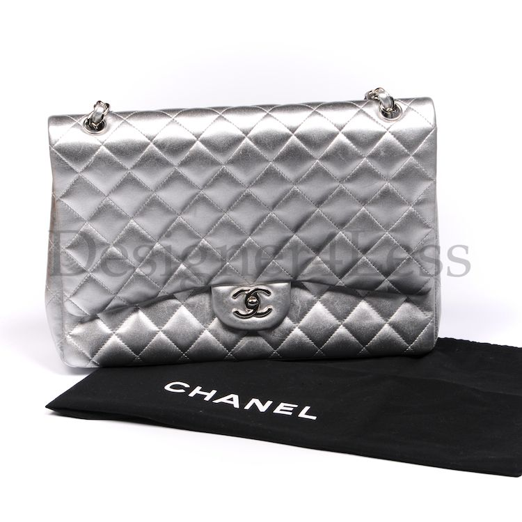 Chanel Silver Maxi Jumbo - Wow
