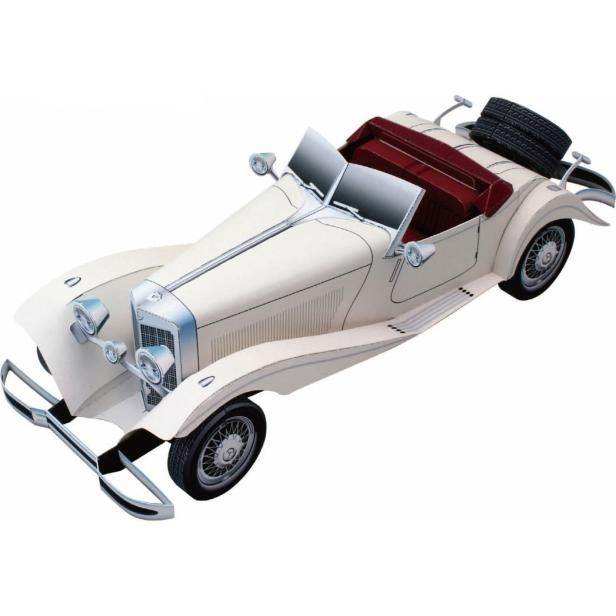 Mercedes Benz 500K,Vehicles,Paper Craft,Europe,Germany,Classic car,beige,automobile