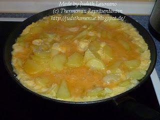 Judith´s Menue: Spanisches Kartoffel-Omelette mit Brokolli-Paprika-Salat
