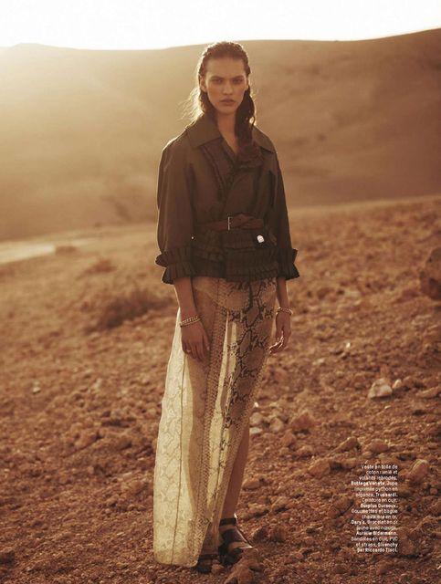 """""""La Captive Du Desert"""" Maggie Jablonski by Stian Foss for L'Officiel Paris March 2014"""