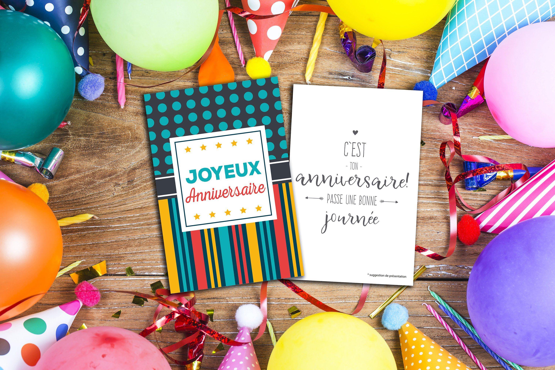 Set Of 10 Birthday Cards Customize It Carte Anniversaire Anniversaire Joyeuse Anniversaire